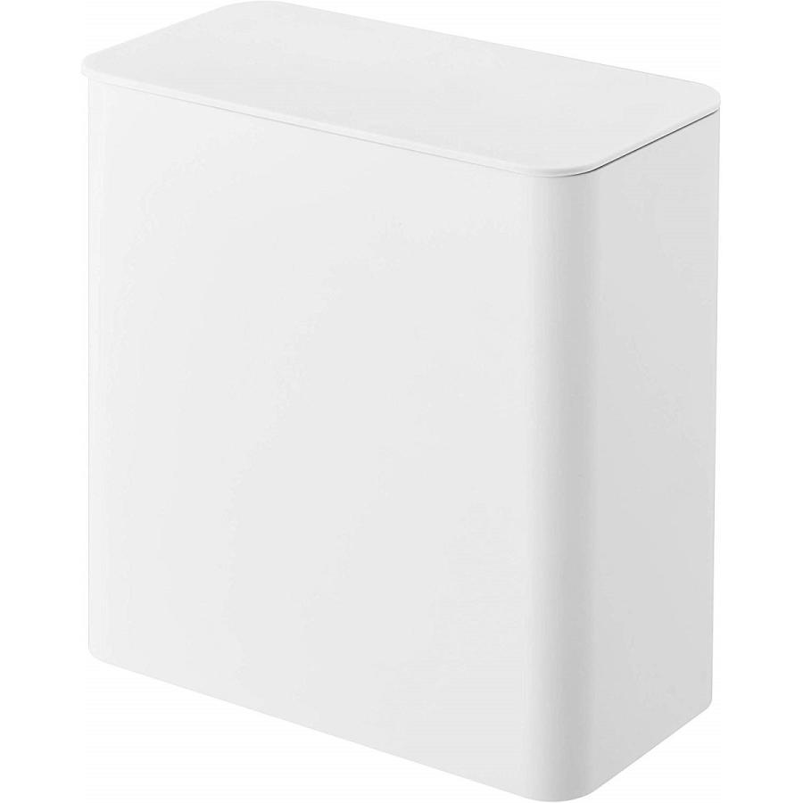 ランドリー収納 ホワイト ブラック タワー マグネット 洗濯機横 ボックス フタ付き ラック|kagu-piena