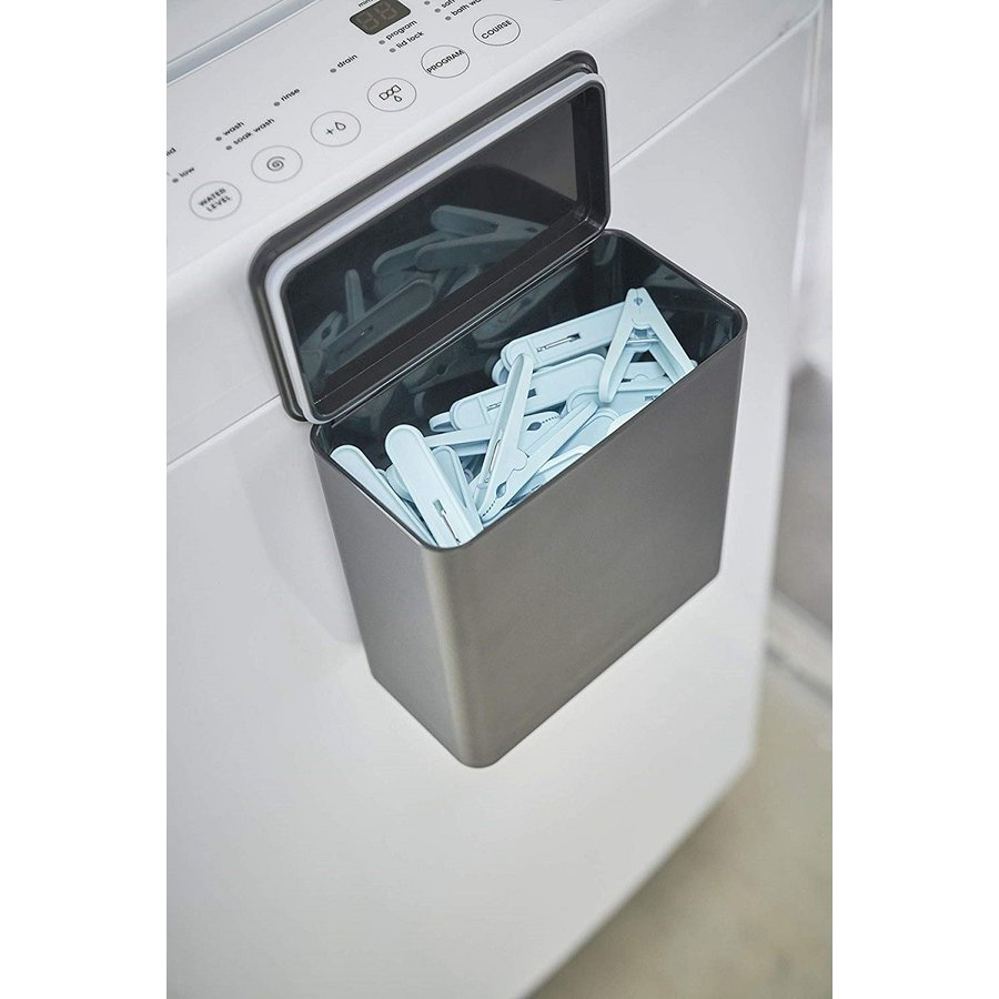 ランドリー収納 ホワイト ブラック タワー マグネット 洗濯機横 ボックス フタ付き ラック|kagu-piena|12
