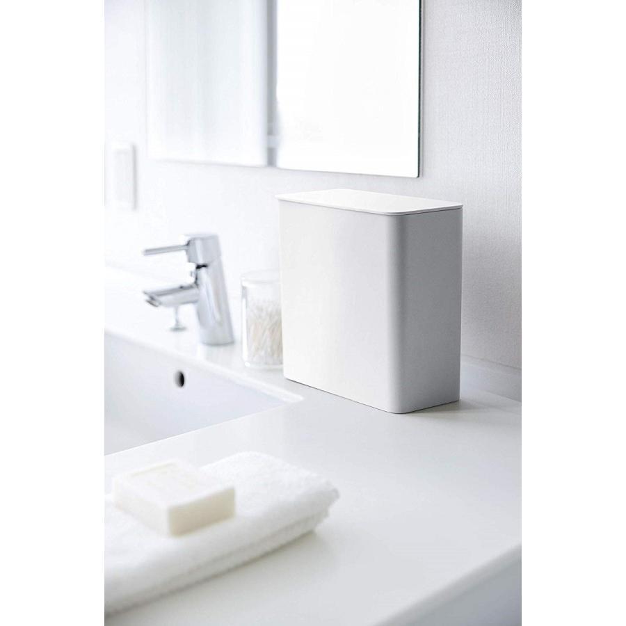 ランドリー収納 ホワイト ブラック タワー マグネット 洗濯機横 ボックス フタ付き ラック|kagu-piena|13