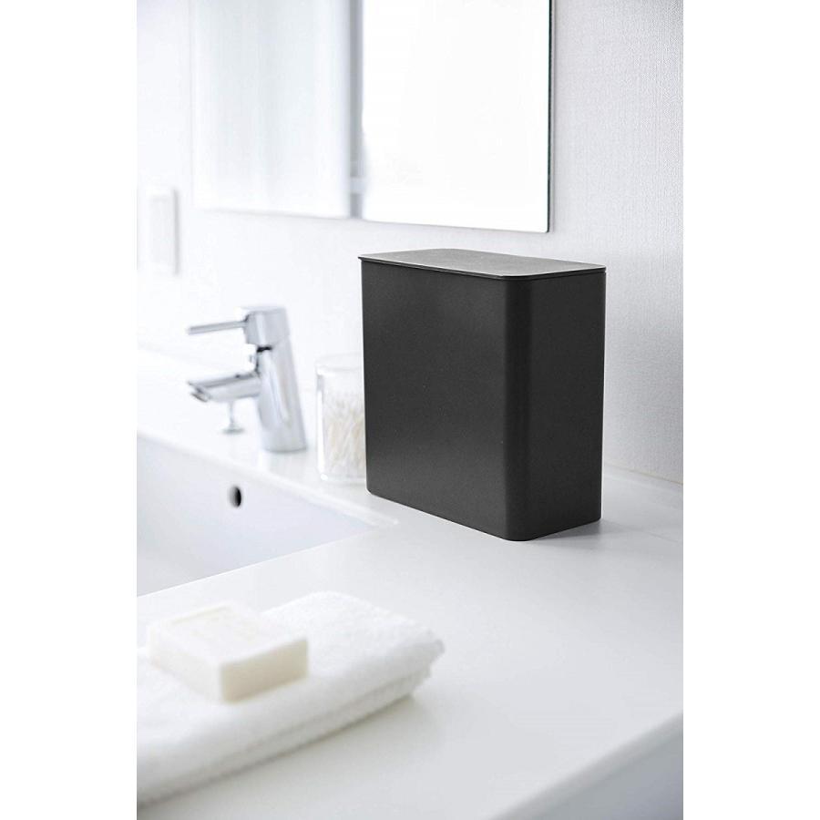 ランドリー収納 ホワイト ブラック タワー マグネット 洗濯機横 ボックス フタ付き ラック|kagu-piena|14