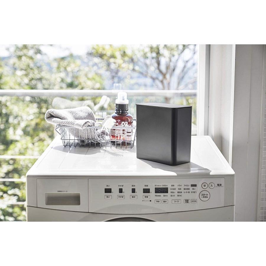 ランドリー収納 ホワイト ブラック タワー マグネット 洗濯機横 ボックス フタ付き ラック|kagu-piena|03