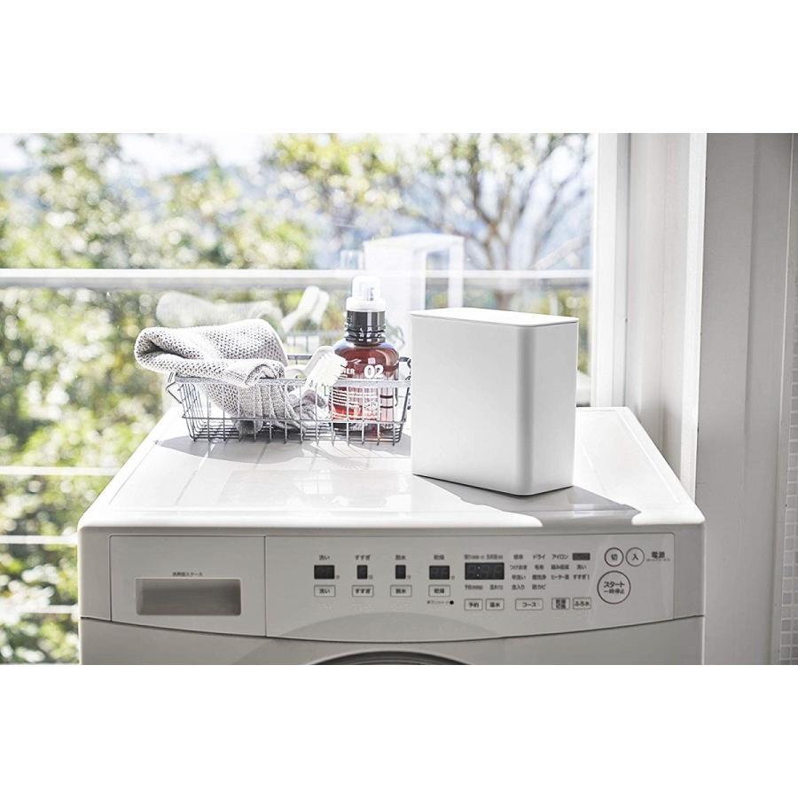 ランドリー収納 ホワイト ブラック タワー マグネット 洗濯機横 ボックス フタ付き ラック|kagu-piena|04