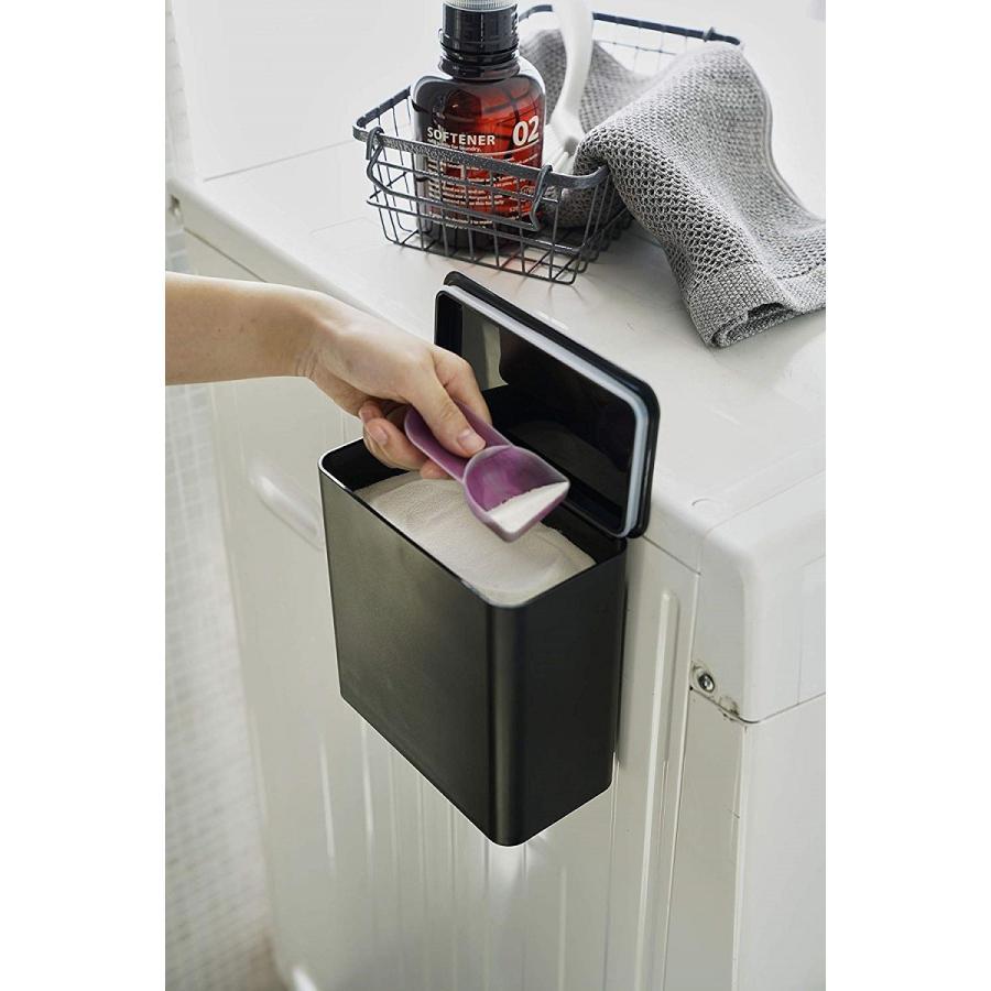 ランドリー収納 ホワイト ブラック タワー マグネット 洗濯機横 ボックス フタ付き ラック|kagu-piena|08
