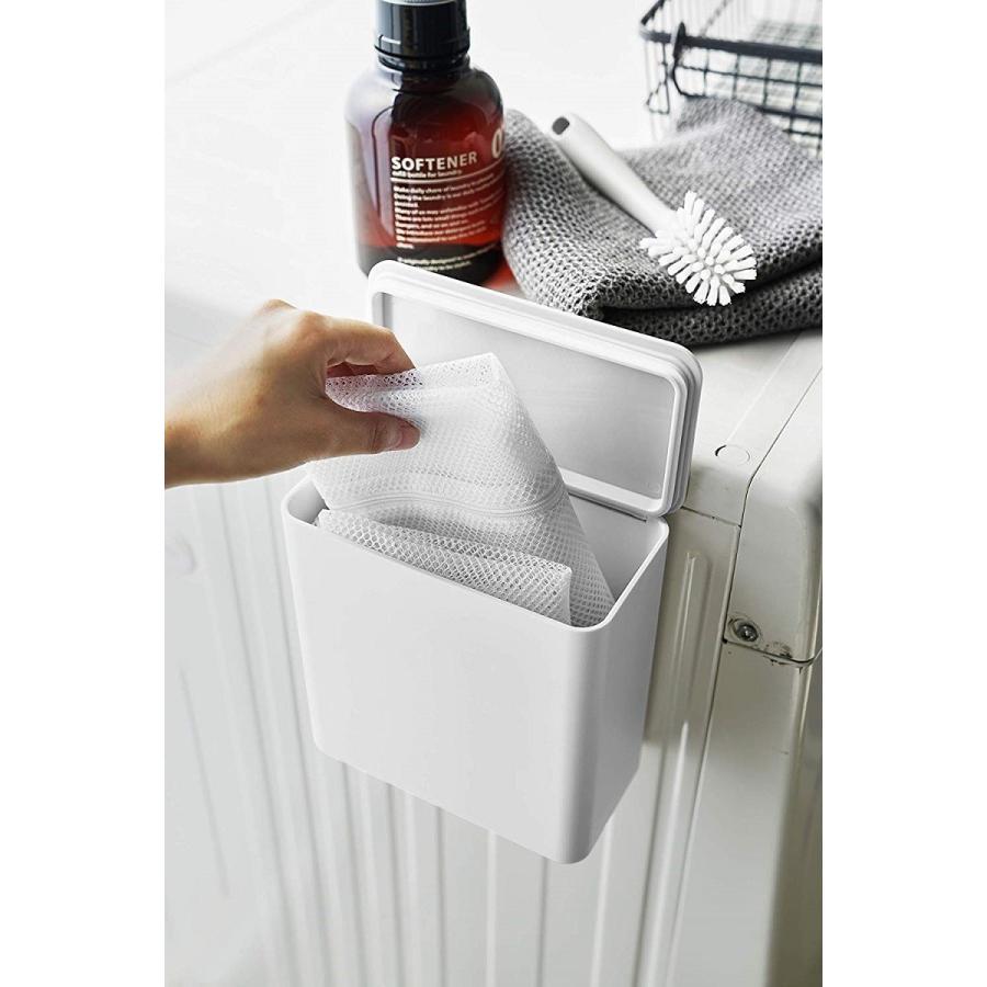 ランドリー収納 ホワイト ブラック タワー マグネット 洗濯機横 ボックス フタ付き ラック|kagu-piena|09