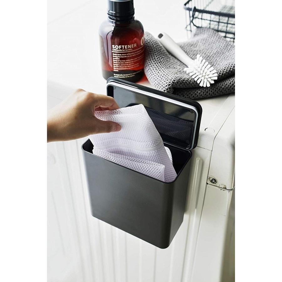 ランドリー収納 ホワイト ブラック タワー マグネット 洗濯機横 ボックス フタ付き ラック|kagu-piena|10