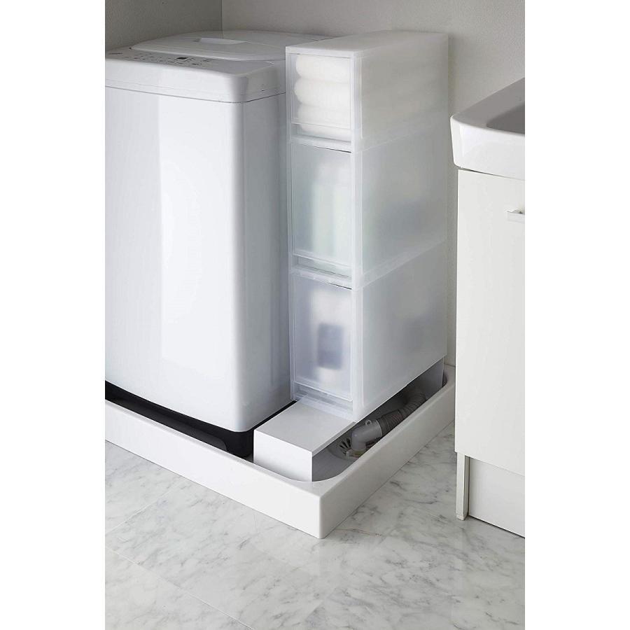 伸縮 洗濯機隙間ラック ホワイト ブラック タワー 伸び縮み 排水溝上 洗濯機横収納台|kagu-piena|11