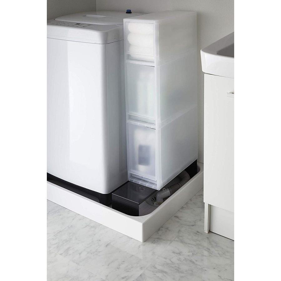 伸縮 洗濯機隙間ラック ホワイト ブラック タワー 伸び縮み 排水溝上 洗濯機横収納台|kagu-piena|12
