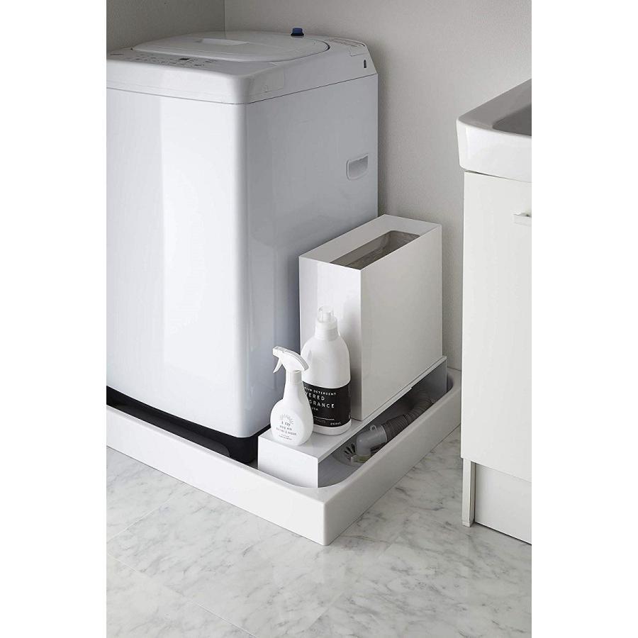 伸縮 洗濯機隙間ラック ホワイト ブラック タワー 伸び縮み 排水溝上 洗濯機横収納台|kagu-piena|05
