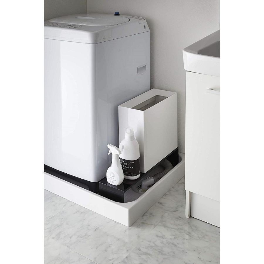 伸縮 洗濯機隙間ラック ホワイト ブラック タワー 伸び縮み 排水溝上 洗濯機横収納台|kagu-piena|06