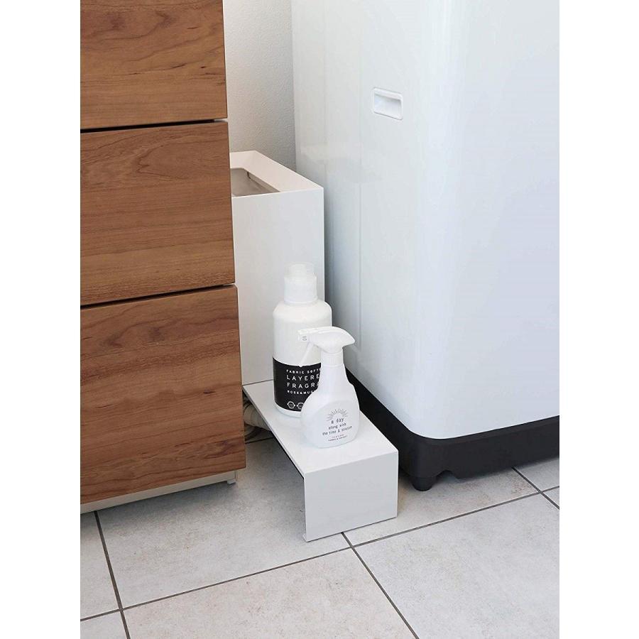 伸縮 洗濯機隙間ラック ホワイト ブラック タワー 伸び縮み 排水溝上 洗濯機横収納台|kagu-piena|07