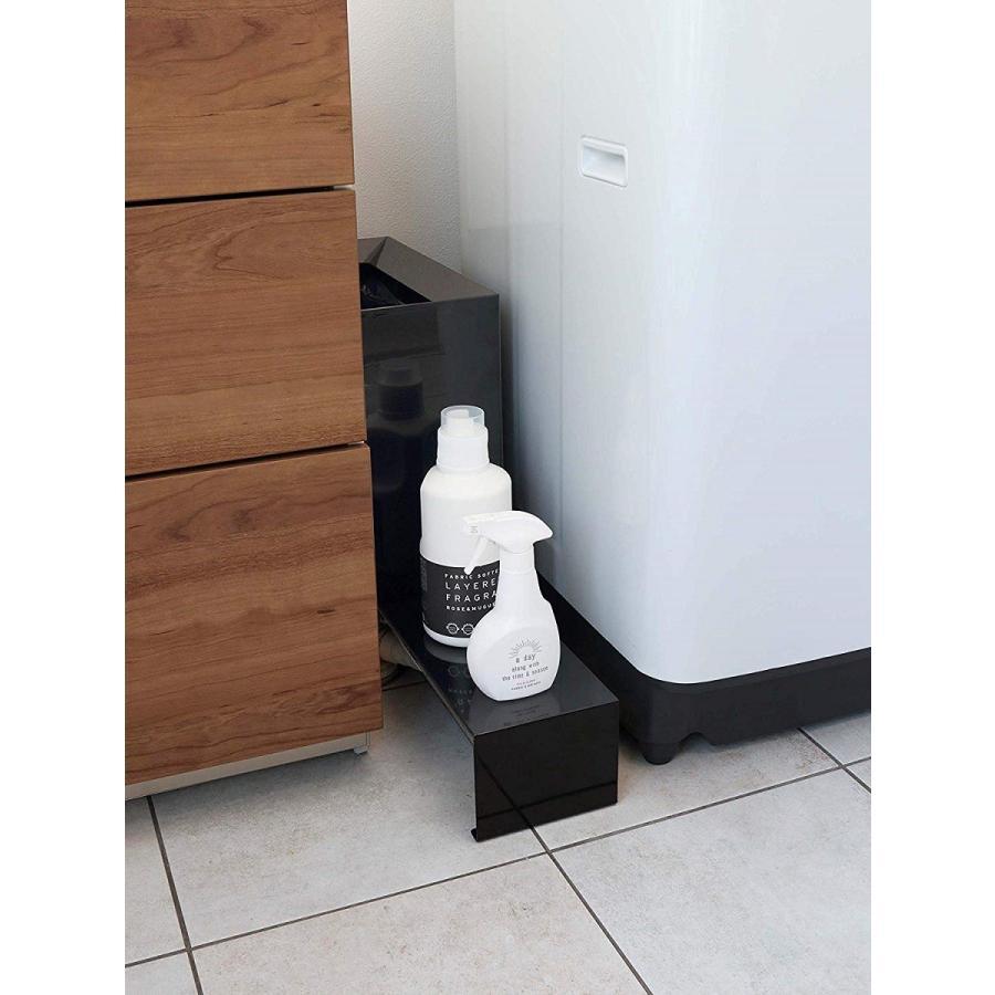 伸縮 洗濯機隙間ラック ホワイト ブラック タワー 伸び縮み 排水溝上 洗濯機横収納台|kagu-piena|08
