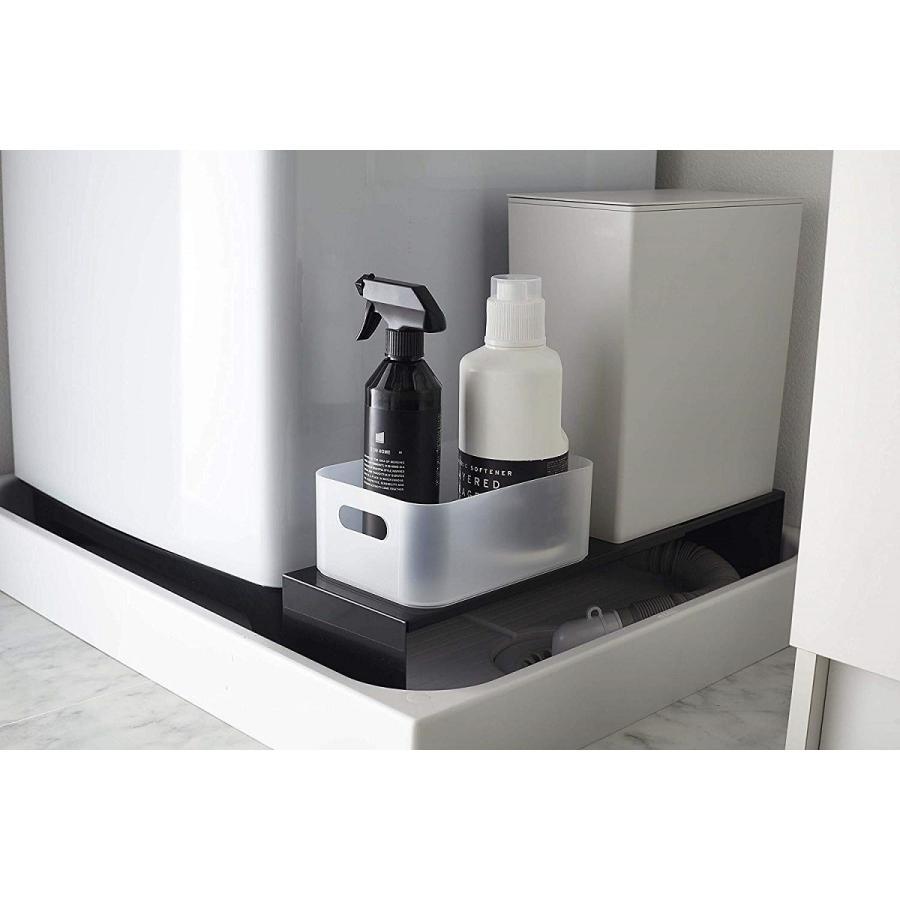 伸縮 洗濯機隙間ラック ホワイト ブラック タワー 伸び縮み 排水溝上 洗濯機横収納台|kagu-piena|10