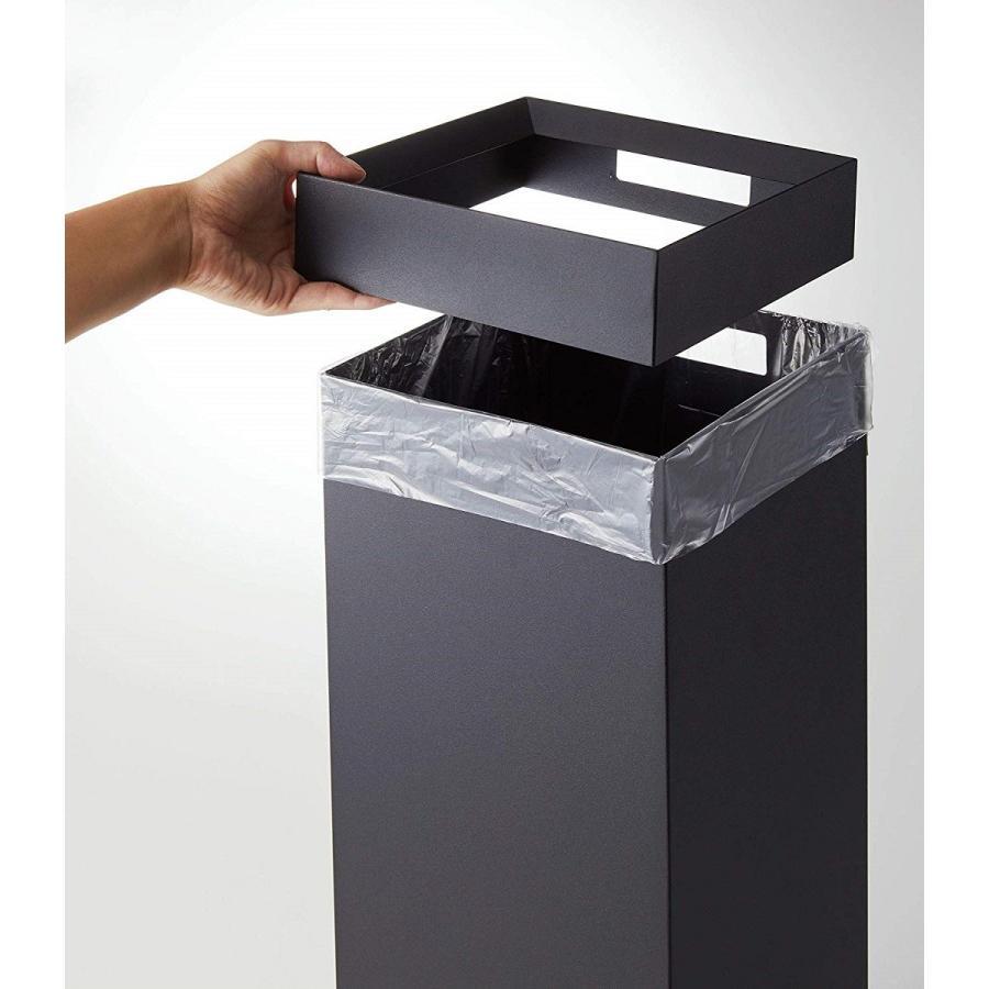 トラッシュカン 角型ロング タワー ゴミ箱 袋が見えない スリム ダストボックス|kagu-piena|12