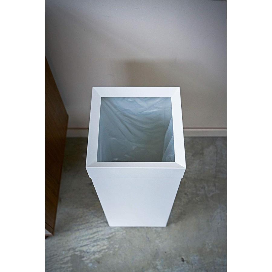 トラッシュカン 角型ロング タワー ゴミ箱 袋が見えない スリム ダストボックス|kagu-piena|13