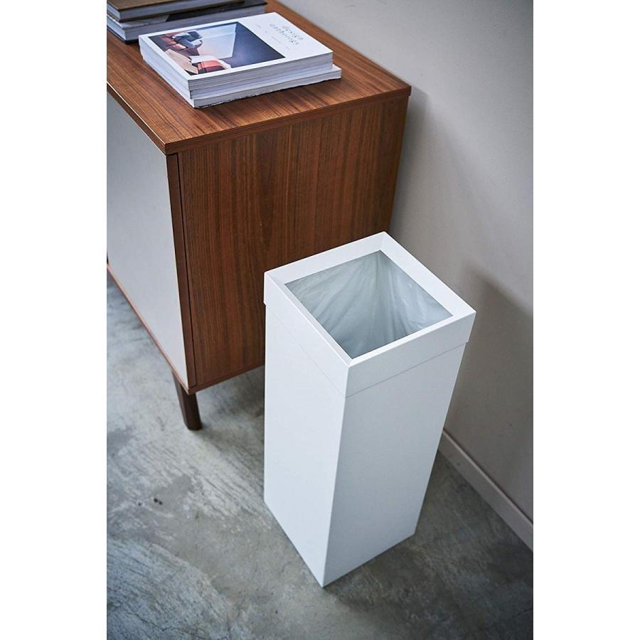 トラッシュカン 角型ロング タワー ゴミ箱 袋が見えない スリム ダストボックス|kagu-piena|05