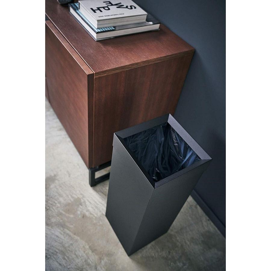 トラッシュカン 角型ロング タワー ゴミ箱 袋が見えない スリム ダストボックス|kagu-piena|06