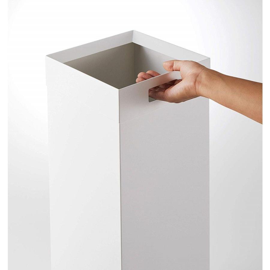 トラッシュカン 角型ロング タワー ゴミ箱 袋が見えない スリム ダストボックス|kagu-piena|09