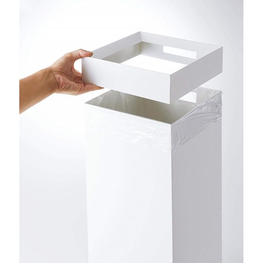 トラッシュカン 角型ロング タワー ゴミ箱 袋が見えない スリム ダストボックス kagu-piena 10