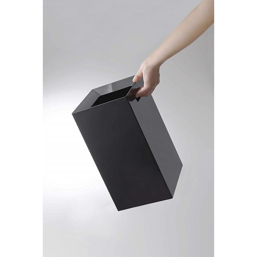 フタなしゴミ箱 タワー ダストボックス トラッシュカン スクエア 角型 スタイリッシュ 持ち手|kagu-piena|12