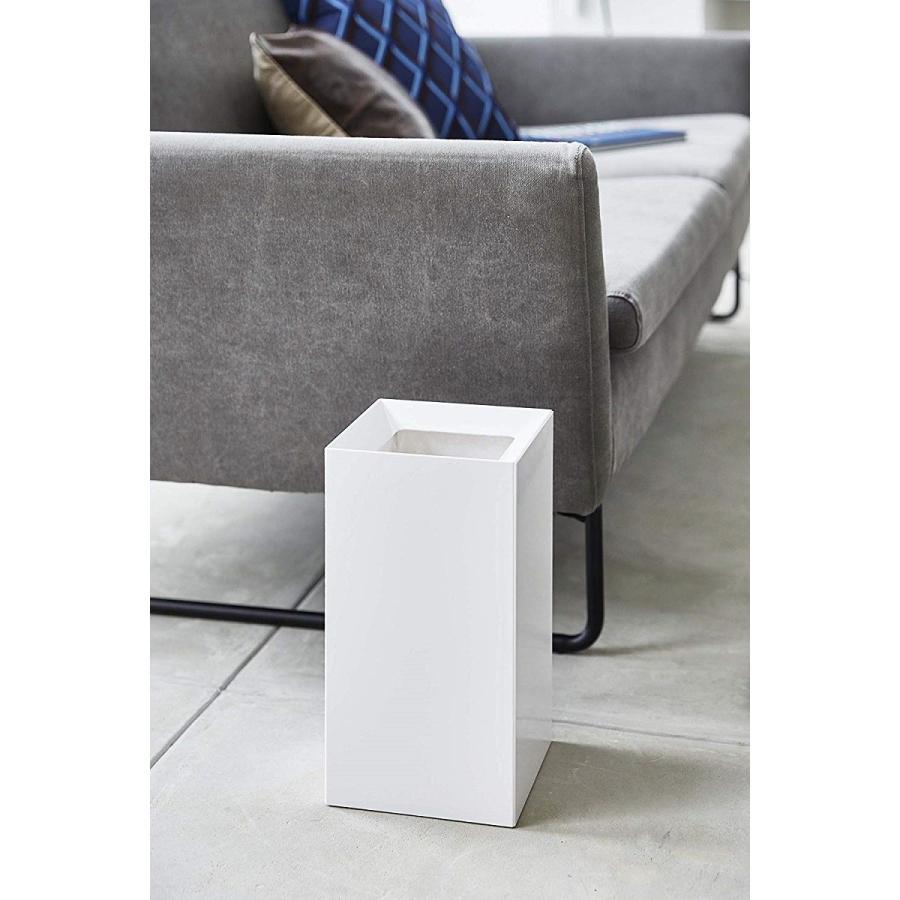 フタなしゴミ箱 タワー ダストボックス トラッシュカン スクエア 角型 スタイリッシュ 持ち手|kagu-piena|13