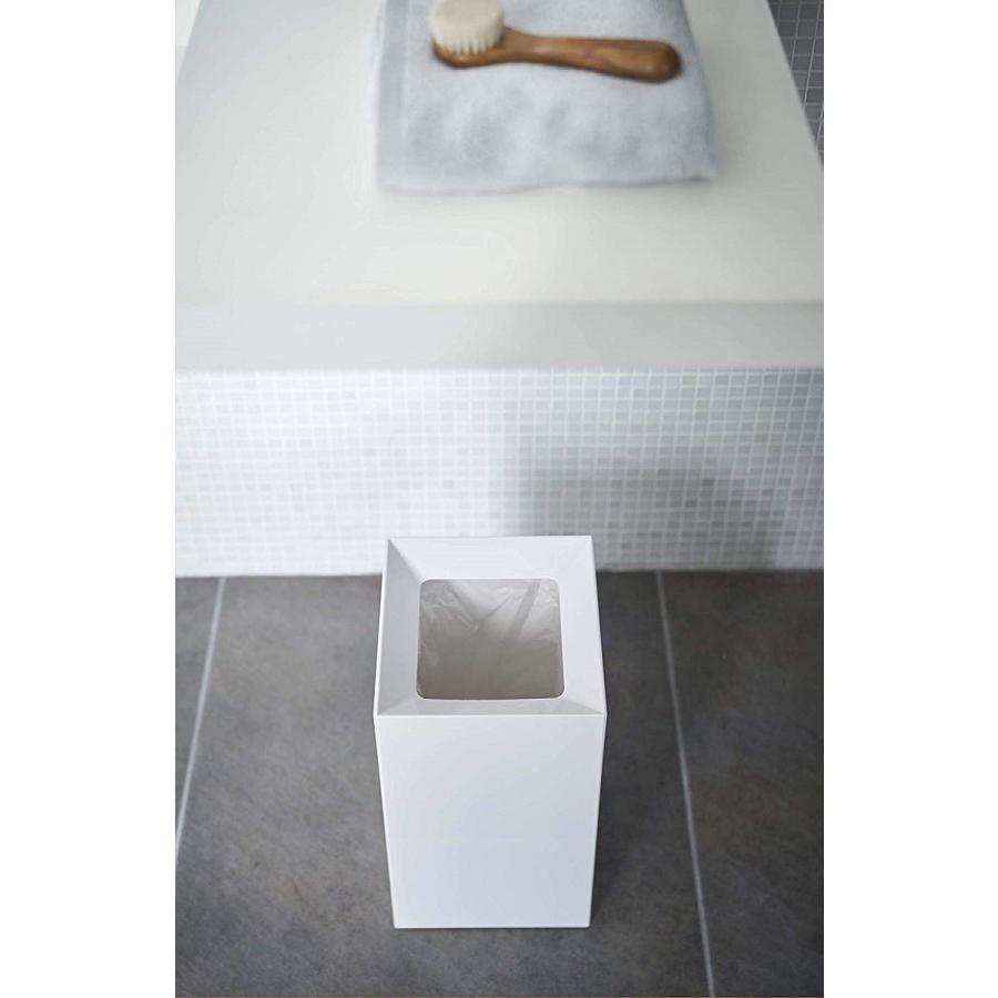 フタなしゴミ箱 タワー ダストボックス トラッシュカン スクエア 角型 スタイリッシュ 持ち手|kagu-piena|04