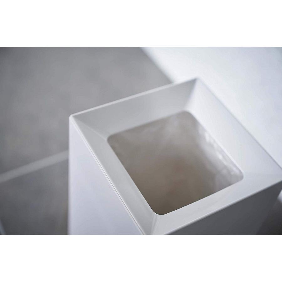 フタなしゴミ箱 タワー ダストボックス トラッシュカン スクエア 角型 スタイリッシュ 持ち手|kagu-piena|06