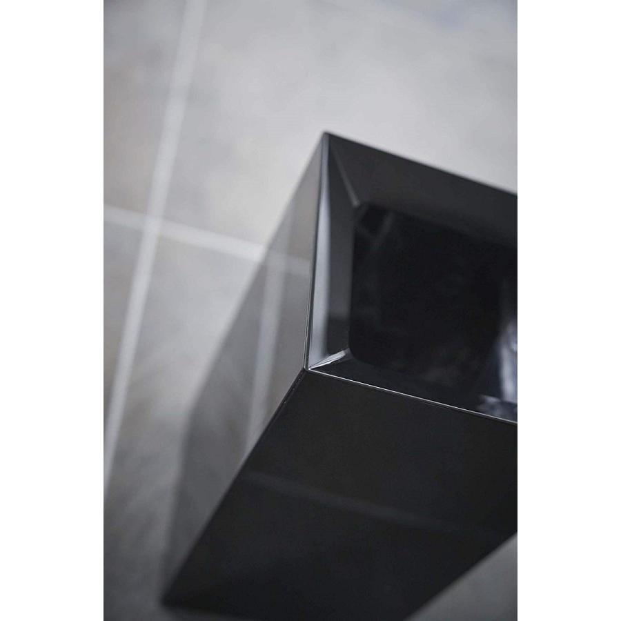 フタなしゴミ箱 タワー ダストボックス トラッシュカン スクエア 角型 スタイリッシュ 持ち手|kagu-piena|07