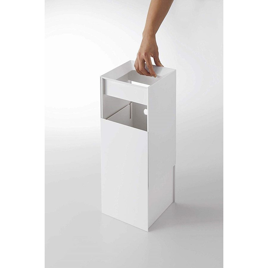 フタなしゴミ箱 タワー ダストボックス トラッシュカン スクエア 角型 スタイリッシュ 持ち手|kagu-piena|08