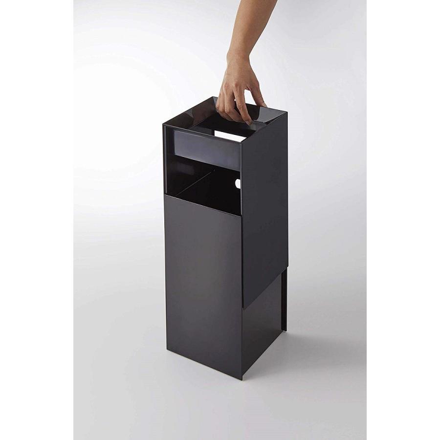 フタなしゴミ箱 タワー ダストボックス トラッシュカン スクエア 角型 スタイリッシュ 持ち手|kagu-piena|09