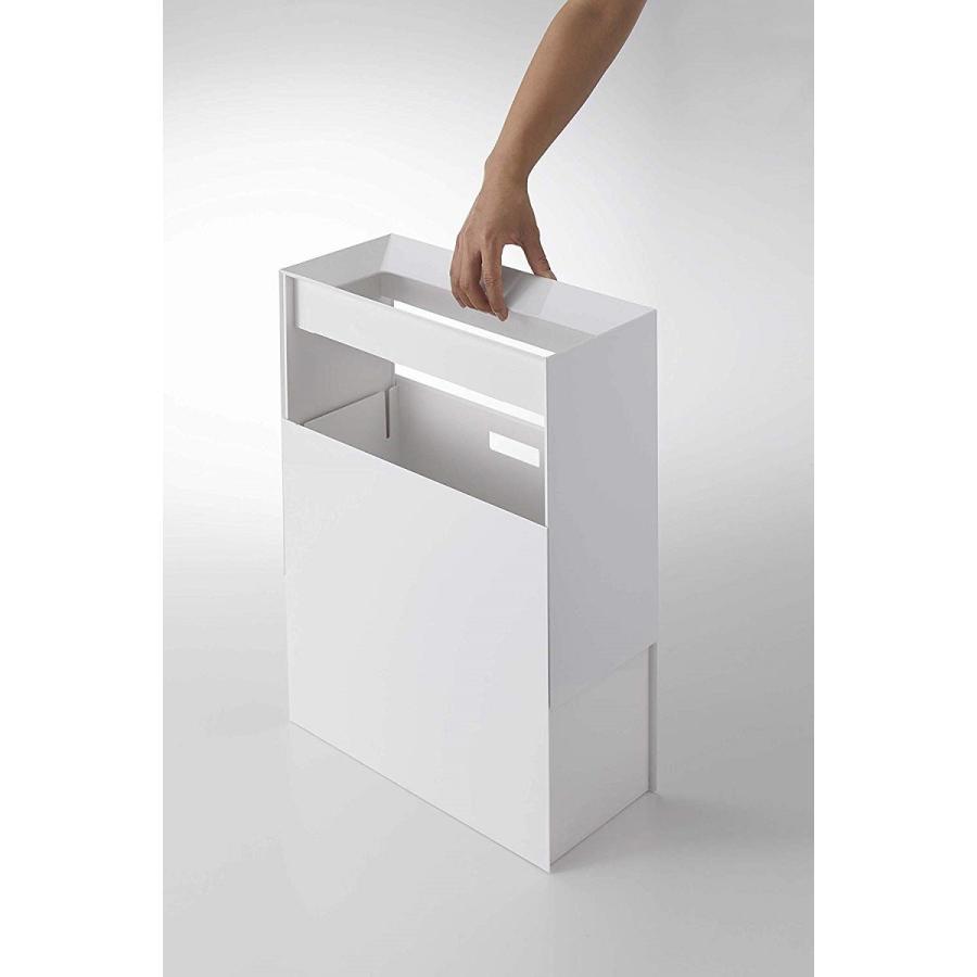 フタなしゴミ箱 タワー ダストボックス トラッシュカン 長方形 角型 レクタングル 持ち手|kagu-piena|07