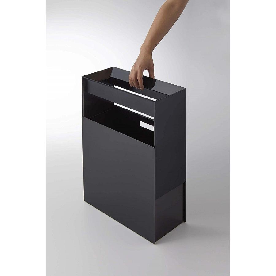 フタなしゴミ箱 タワー ダストボックス トラッシュカン 長方形 角型 レクタングル 持ち手|kagu-piena|08