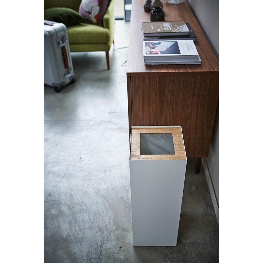 フタなしゴミ箱 リン ダストボックス トラッシュカン ロング 大容量 木製 スクエア 角型 kagu-piena 03