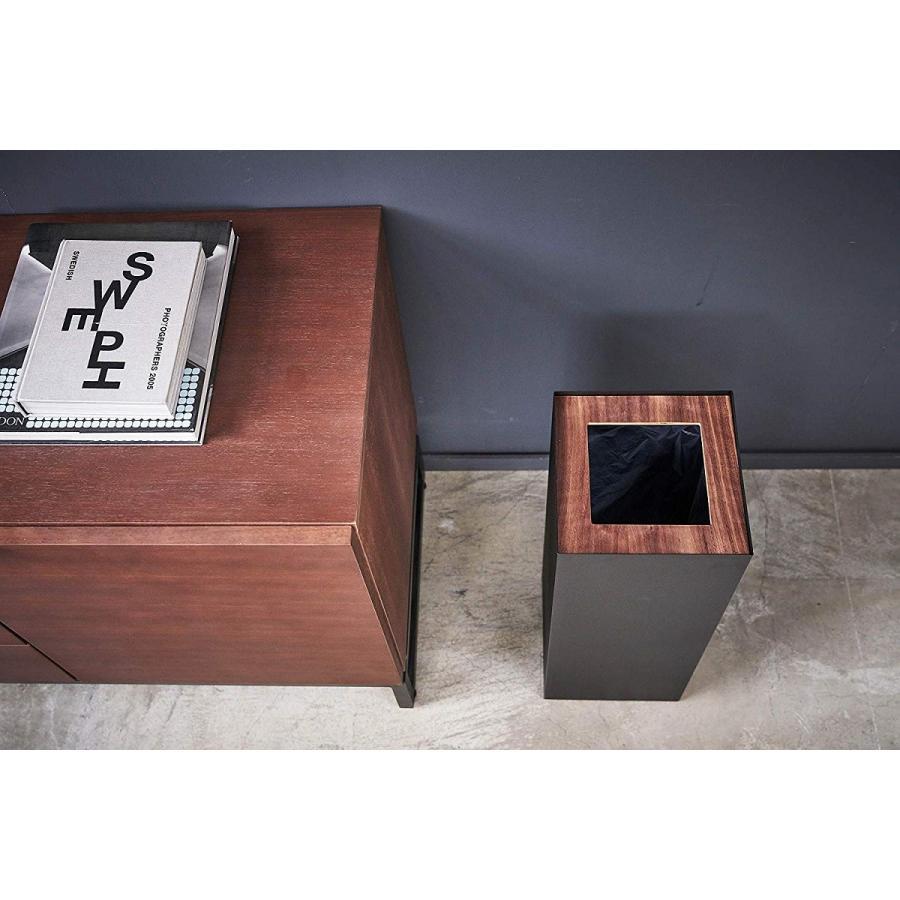 フタなしゴミ箱 リン ダストボックス トラッシュカン ロング 大容量 木製 スクエア 角型 kagu-piena 04