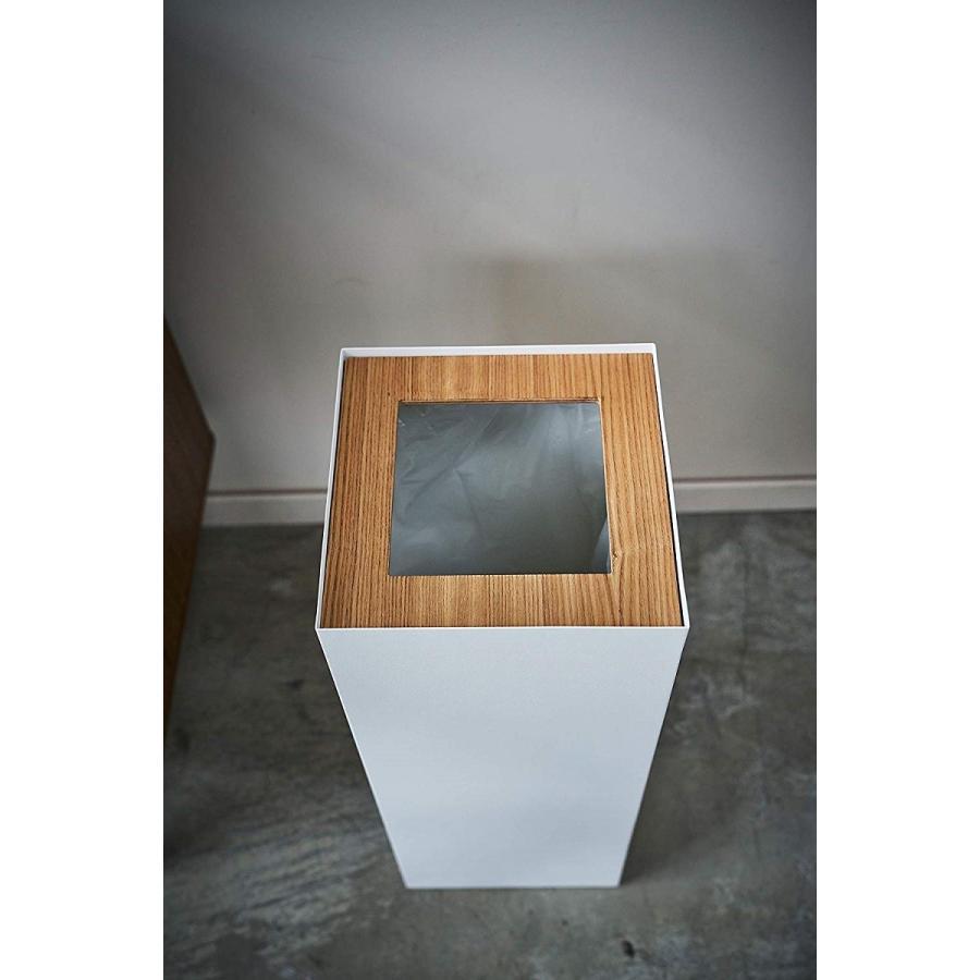 フタなしゴミ箱 リン ダストボックス トラッシュカン ロング 大容量 木製 スクエア 角型 kagu-piena 05