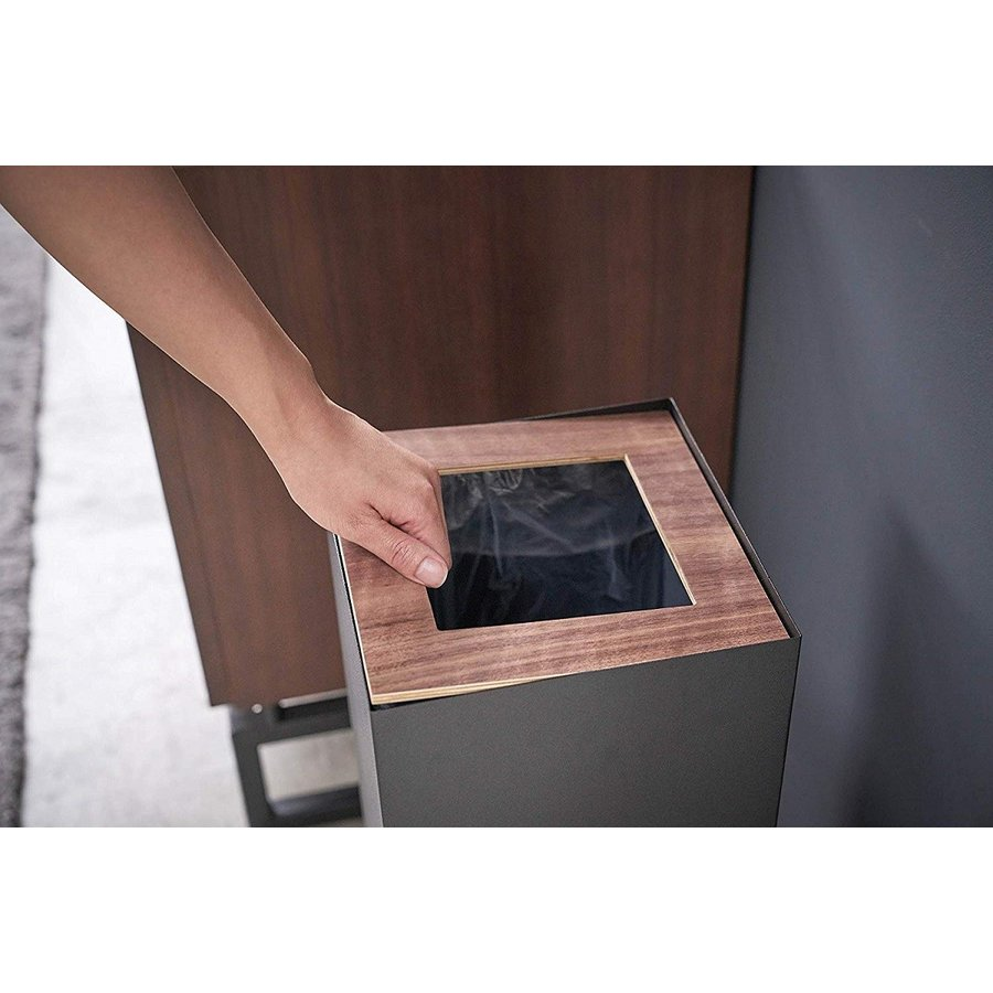 フタなしゴミ箱 リン ダストボックス トラッシュカン ロング 大容量 木製 スクエア 角型 kagu-piena 06