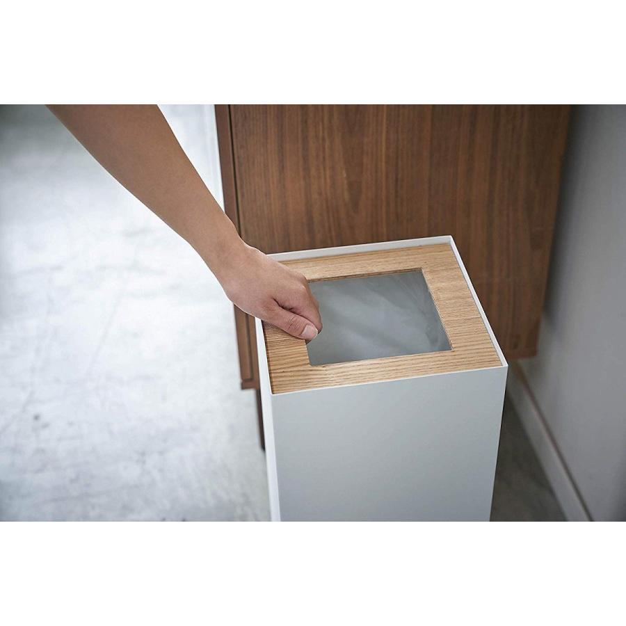 フタなしゴミ箱 リン ダストボックス トラッシュカン ロング 大容量 木製 スクエア 角型 kagu-piena 07