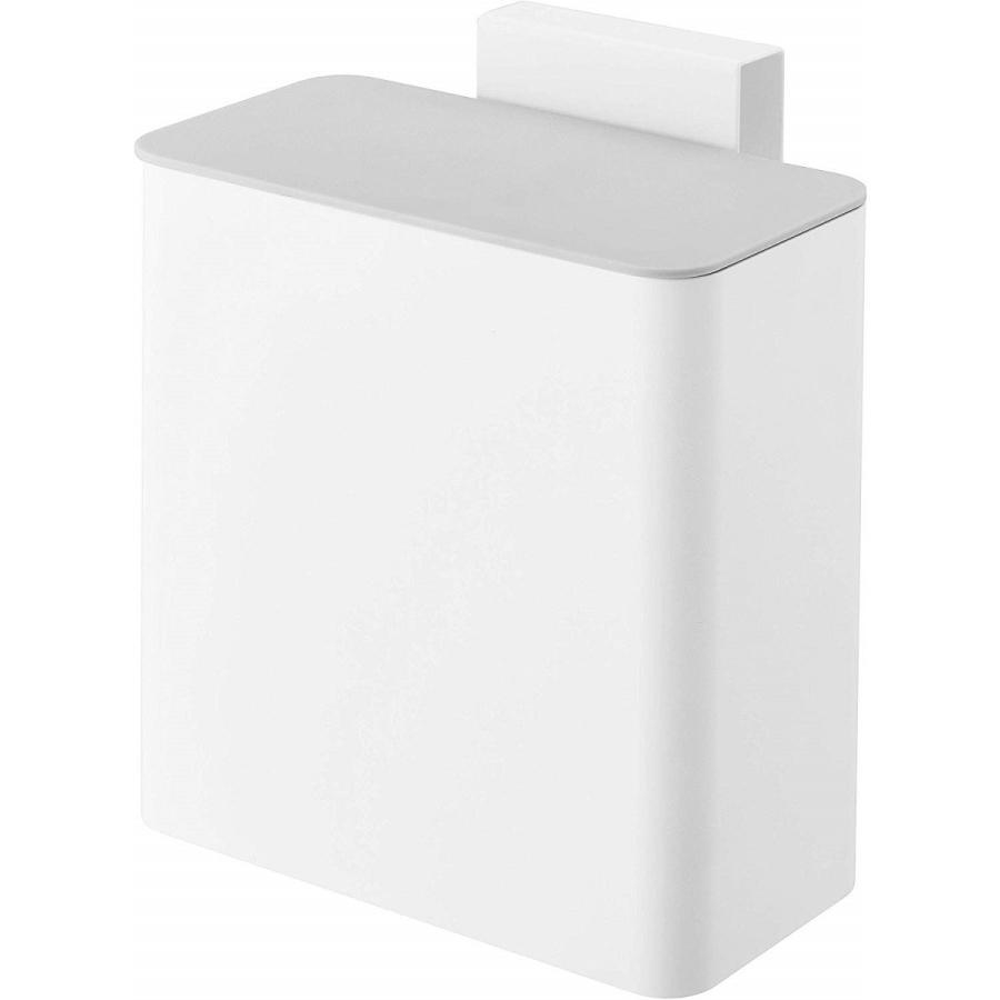 マグネット & シンク扉ゴミ箱 ホワイト プレート マグネット 蓋付き ゴミ箱 冷蔵庫横|kagu-piena