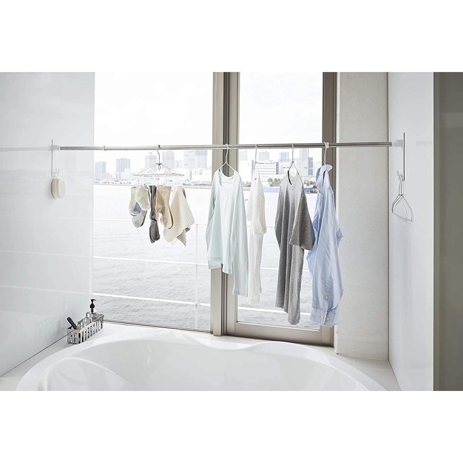 マグネットバスルーム物干し竿ホルダー2個組 浴室乾燥 室内干し 簡単取り付け ホワイト ブラック 磁石 お風呂場 kagu-piena 11