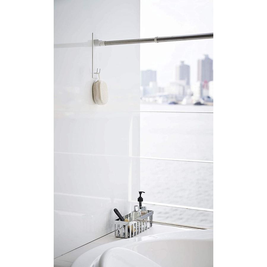 マグネットバスルーム物干し竿ホルダー2個組 浴室乾燥 室内干し 簡単取り付け ホワイト ブラック 磁石 お風呂場 kagu-piena 04