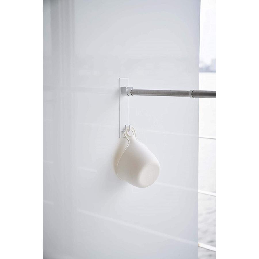 マグネットバスルーム物干し竿ホルダー2個組 浴室乾燥 室内干し 簡単取り付け ホワイト ブラック 磁石 お風呂場 kagu-piena 07