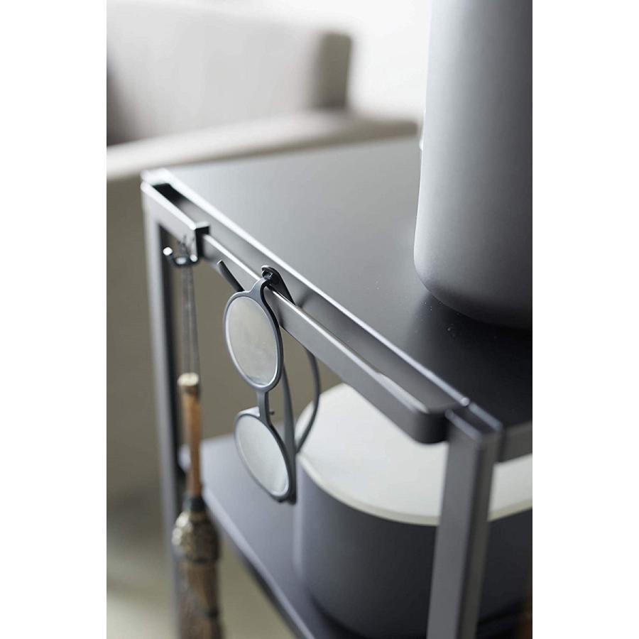 ハンドル付きキッチンカート3段 キッチンワゴン キャスター フック ホワイト ブラック ダイニング ソファテーブル サイドテーブル|kagu-piena|11