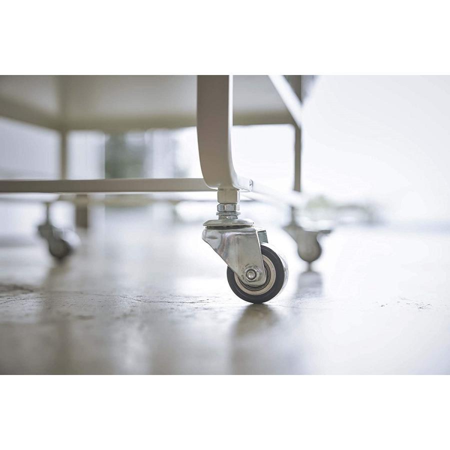 ハンドル付きキッチンカート3段 キッチンワゴン キャスター フック ホワイト ブラック ダイニング ソファテーブル サイドテーブル|kagu-piena|12