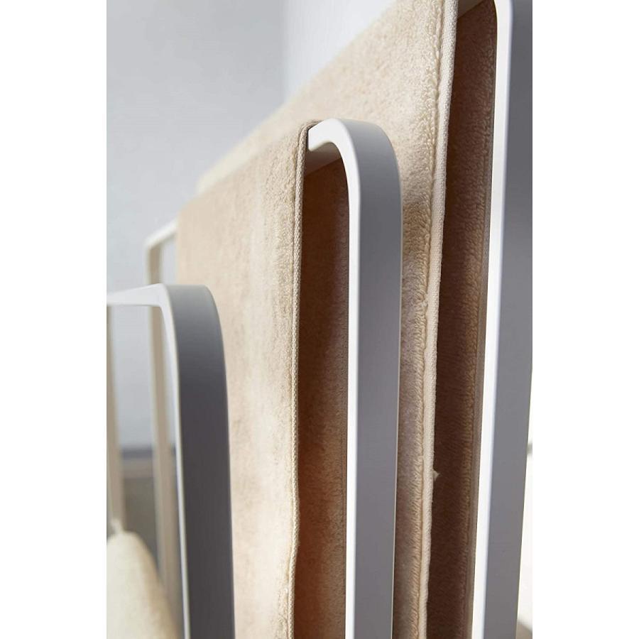 横から掛けられるバスタオルハンガー タオル掛け 大判サイズも干せる 3連 薄型 ホワイト ブラック 白 黒 洗濯物干し|kagu-piena|09