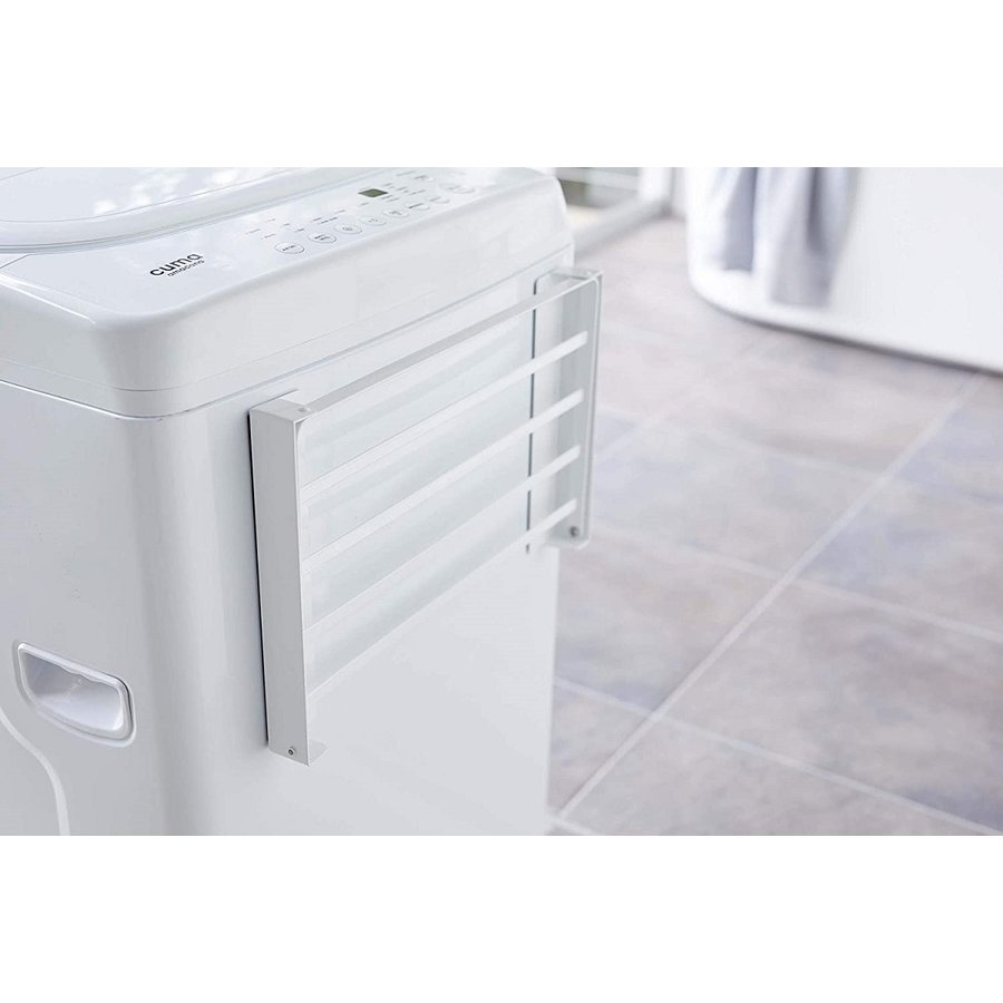 洗濯機横マグネット折り畳み棚 省スペースラック 折り畳み式 スペース有効活用 ホワイト ブラック 賃貸 脱衣所 バスルーム|kagu-piena|11
