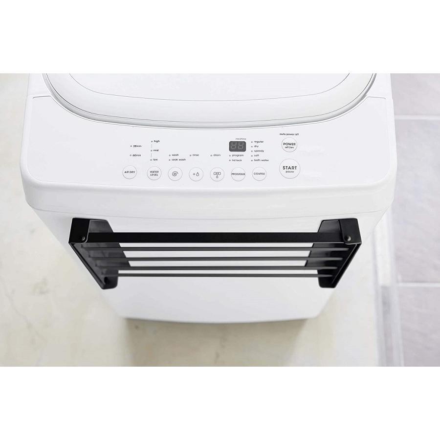 洗濯機横マグネット折り畳み棚 省スペースラック 折り畳み式 スペース有効活用 ホワイト ブラック 賃貸 脱衣所 バスルーム|kagu-piena|12