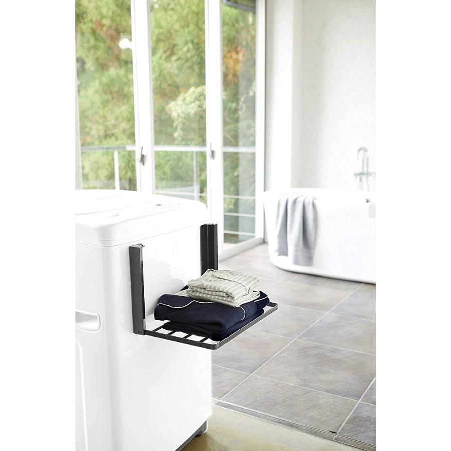洗濯機横マグネット折り畳み棚 省スペースラック 折り畳み式 スペース有効活用 ホワイト ブラック 賃貸 脱衣所 バスルーム|kagu-piena|13