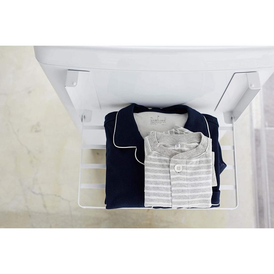 洗濯機横マグネット折り畳み棚 省スペースラック 折り畳み式 スペース有効活用 ホワイト ブラック 賃貸 脱衣所 バスルーム|kagu-piena|07