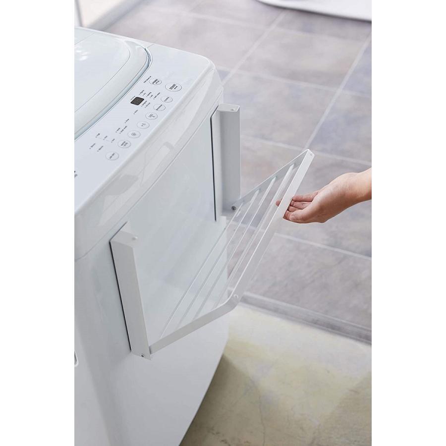 洗濯機横マグネット折り畳み棚 省スペースラック 折り畳み式 スペース有効活用 ホワイト ブラック 賃貸 脱衣所 バスルーム|kagu-piena|09