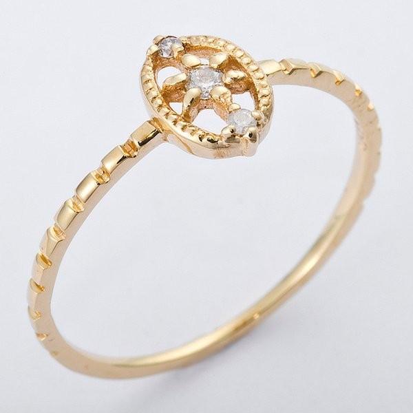 【オープニング大セール】 K10イエローゴールド 天然ダイヤリング 指輪 ダイヤ0.04ct 8.5号 アンティーク調, オオダイチョウ 7863db2b