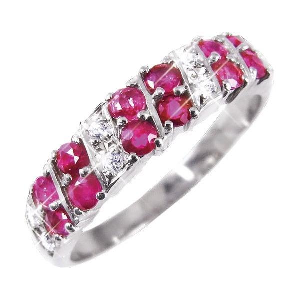 【お得】 ルビー&ダイヤリング 指輪 ダブルエタニティーリング 21号, シワチョウ 3cf70341